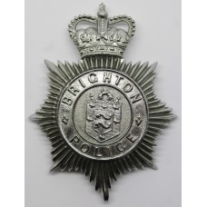 Brighton Police Helmet Plate - Queen's Crown