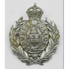 Dudley Borough Police Small Wreath Helmet Plate - King's Crown