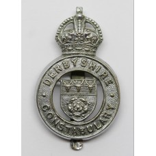 Derbyshire Constabulary Cap Badge - King's Crown
