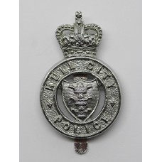 Hull City Police Cap Badge - Queen's Crown
