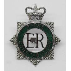 Parks Constabulary Enamelled Cap Badge - Queen's Crown