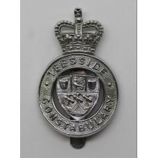 Teesside Constabulary Cap Badge - Queen's Crown