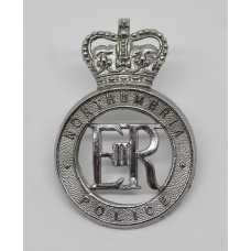 Northumbria Police Cap Badge - Queen's Crown