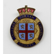 Durham County Constabulary Special Constable Enamelled Lapel Badg