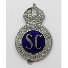 Lincolnshire Special Constabulary Enamelled Cap Badge - King's Cr