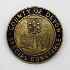 County of Devon Special Constable Enamelled Lapel Badge