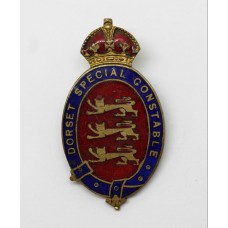 Dorset Special Constable Enamelled Lapel Badge - King's Crown