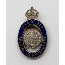 Isle of Ely Special Constabulary Enamelled Lapel Badge - King's Crown