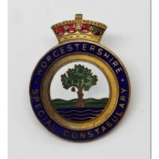 Worcestershire Special Constabulary Enamelled Lapel Badge