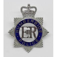 Humberside Police Senior Officer's Enamelled Cap Badge - Queen's Crown