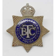 British Transport Commission (B.T.C.) Senior Officer's Enamelled Cap Badge - King's Crown