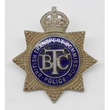 British Transport Commission (B.T.C.) Senior Officer's Enamelled Cap Badge - King's Crown