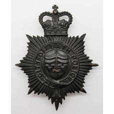 Bath City Police Night Helmet Plate - Queen's Crown