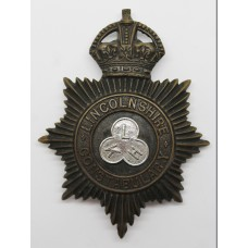 Lincolnshire Constabulary Night Helmet Plate - King's Crown