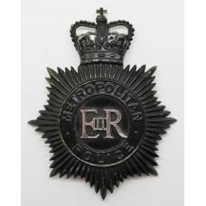 Metropolitan Police Night Helmet Plate - Queen's Crown