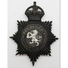 Macclesfield Borough Police Night Helmet Plate - King's Crown