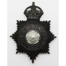North Riding Constabulary Night Helmet Plate - King's Crown