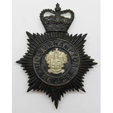 Wolverhampton Police Night Helmet Plate - Queen's Crown