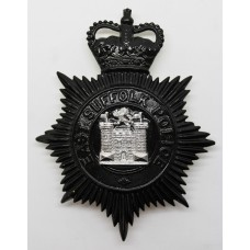 East Suffolk Police Night Helmet Plate - Queen's Crown