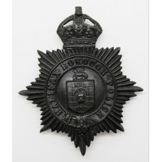 Halifax Borough Police Night Helmet Plate - King's Crown