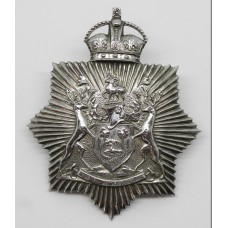 Derby Borough Police Helmet Plate - King's Crown