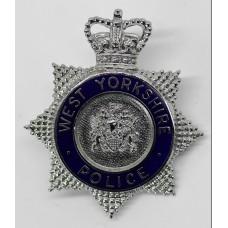 West Yorkshire Police Senior Officer's Enamelled Cap Badge - Queen's Crown