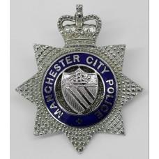 Manchester City Police Senior Officer's Enamelled Cap Badge - Queen's Crown