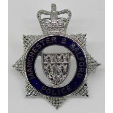 Manchester & Salford Police Senior Officer's Cap Badge - Quee