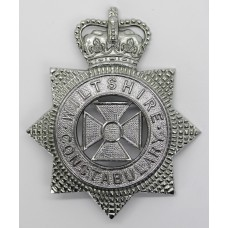Wiltshire Constabulary Helmet Plate- Queen's Crown (Small Star)