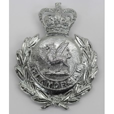 Glamorgan Constabulary Wreath Helmet Plate - Queen's Crown