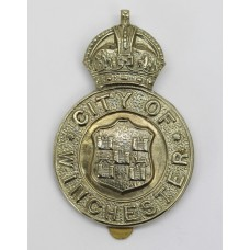 Winchester City Police Cap Badge - King's Crown