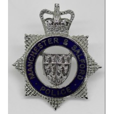 Manchester & Salford Police Senior Officer's Cap Badge - Queen's Crown