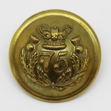 Victorian 75th (Stirlingshire) Regiment of Foot Button (Large)