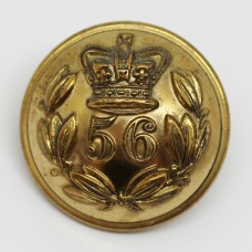 Victorian 56th (West Essex) Regiment of Foot Officer's Button (Large)