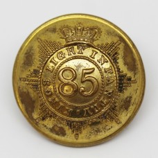 Victorian 85th (Bucks Volunteers) (The King's Light Infantry) Regiment of Foot Officer's Button (Large)