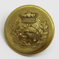 Victorian 57th (West Middlesex) Regiment of Foot Officer's Button (Large)