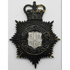Luton County Borough Police Night Helmet Plate - Queen's Crown