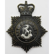 Kent Constabulary Night Helmet Plate - Queen's Crown
