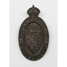 Norfolk Constabulary Special Constable Lapel Badge - King's Crown