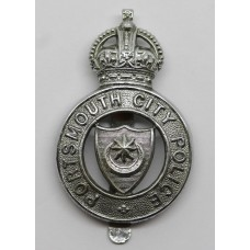 Portsmouth City Police Cap Badge - King's Crown