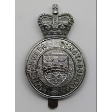 Mid-Anglia Constabulary Cap Badge - Queen's Crown