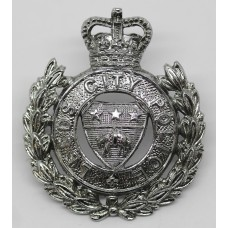 Leeds City Police Cap Badge - Queen' Crown