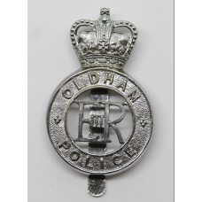 Oldham Borough Police Cap Badge - Queen's Crown
