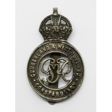 George VI Cumberland & Westmorland Constabulary Cap Badge