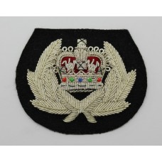 Ministry of Defence Police Chief Officer's Bullion Cap Badge - Queen's Crown