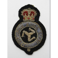 Isle of Man Constabulary Bullion Cap Badge - Queen's Crown