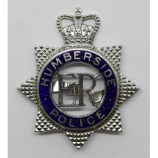 Humberside Police Senior Officer's Enamelled Cap Badge - Queen's
