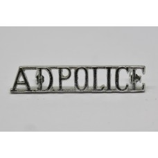 Army Depot Police (A.D.POLICE) Anodised (Staybrite) Shoulder Titl