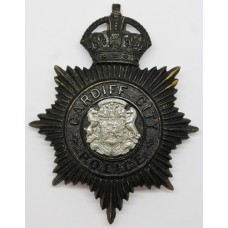 Cardiff City Police Night Helmet Plate - King's Crown