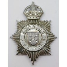 Reading Borough Police Helmet Plate - King's Crown